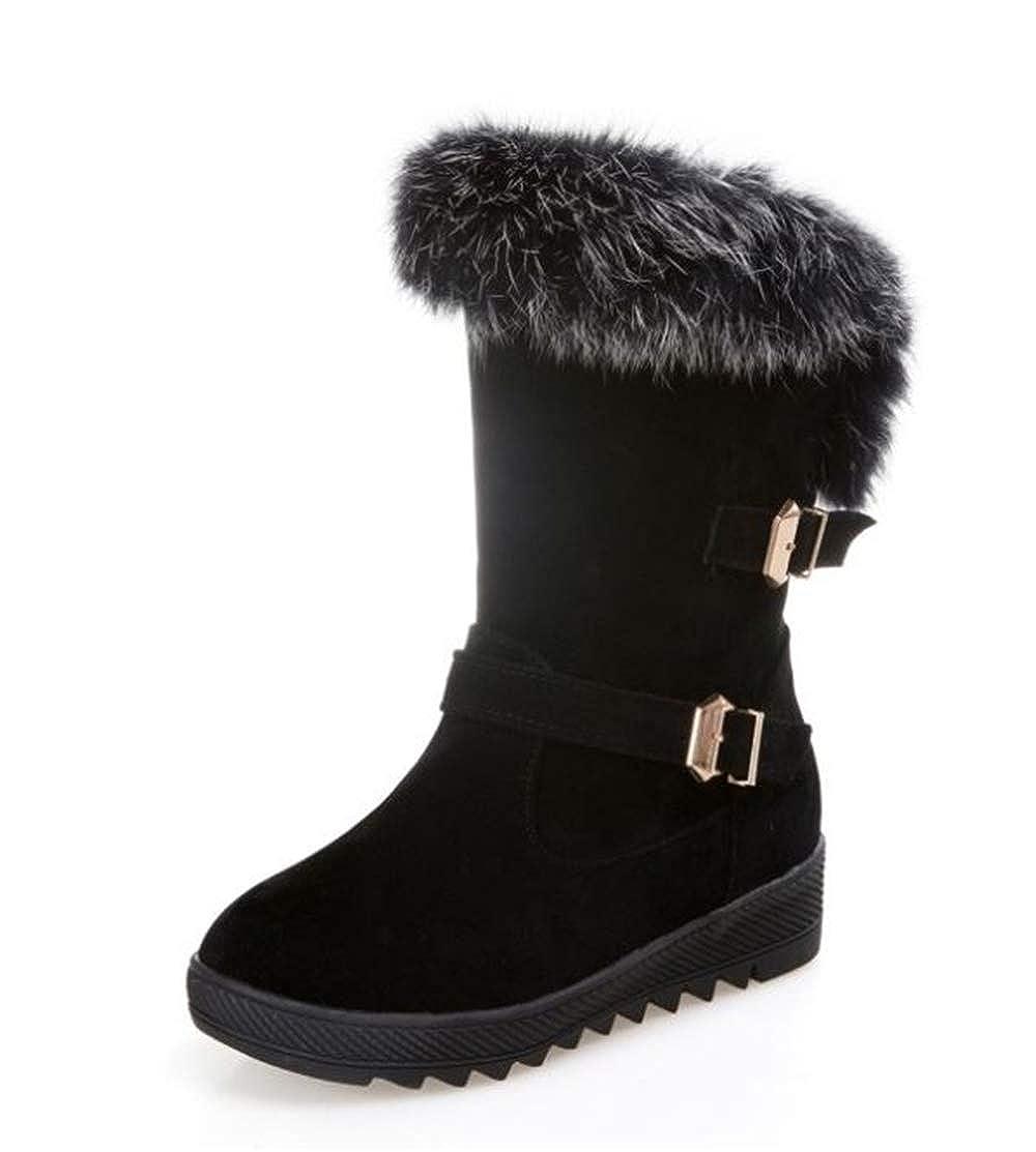 Christmas Suede Flat Platform Sneaker Shoes Plus Velvet Winter Womens Cotton Snow Boots