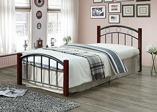 Hodedah HI599 Complete Metal Twin Bed ()