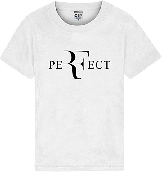 QYS Hombres de Verano de Moda RF Letras de diseño Camiseta Roger ...