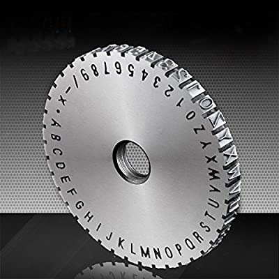 Embosser Machine 2mm, 3mm, 5mm, 6mm Letter Wheel Embossing Font Stamping Print