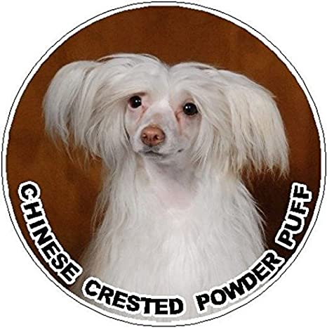 Got Chinese Crested Sticker Die Cut Vinyl v2 puff
