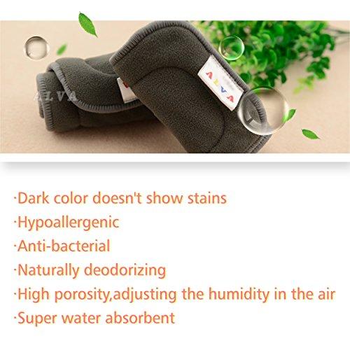 Amazon.com : ALVABABY de 5capas forros de tela de bambú y carbón 12pcs 12ZTN-ES : Baby