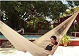 Sunnydaze Hand-Woven 2 Person Mayan Hammock with Stand, Family Size, Natural, 400 Pound Capacity