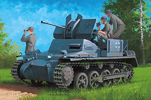 (Hobby Boss German Flakpanzer Ia W/Ammo. Trailer 1/35 Armor Model Kit)