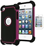 Bastex Hybrid Armor Case for Apple iPod Touch 4, 4th Generation - Hot Pink+BlackINCLUDES SCREEN PROTECTOR