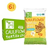 Real Food From The Ground Up Cauliflower Tortilla Chips - 6 Count, 4.5 Oz Bags (Sea Salt)