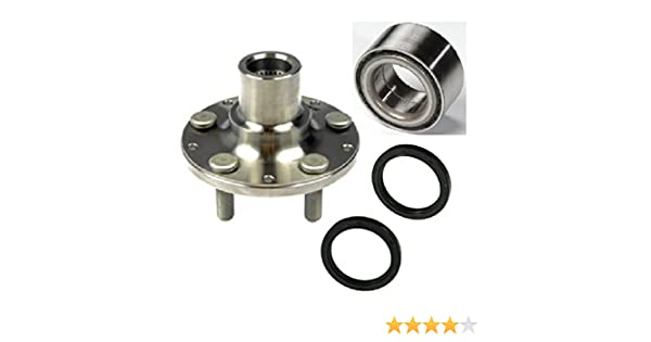 4-Wheel ABS 8USAUTO Single Front Left or Right Wheel Hub and Bearing with Seal fit 1999 2000 2001 2002 Subaru Forester