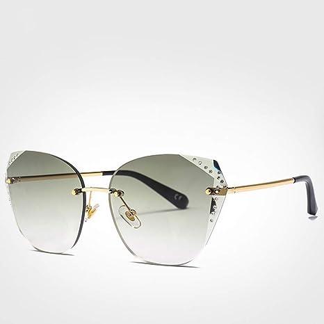 OVEA Gafas De Sol De Diamantes De Imitación con Montura Azul ...