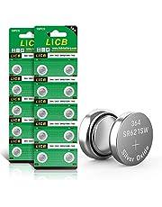 LiCB 20 stuks SR621SW horlogebatterij, 364 1,5 V knoopcelbatterijen V364 AG1 LR621 SR 621SW polshorloge batterij