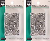 #10: Dritz size 2 Curved Safety Pins are just the right angle for easy penetration of quilt layers with no shifting. Size 2 is recommended for high loft batting. Nickel-plated steel, 40 Ct. (3 Pack)