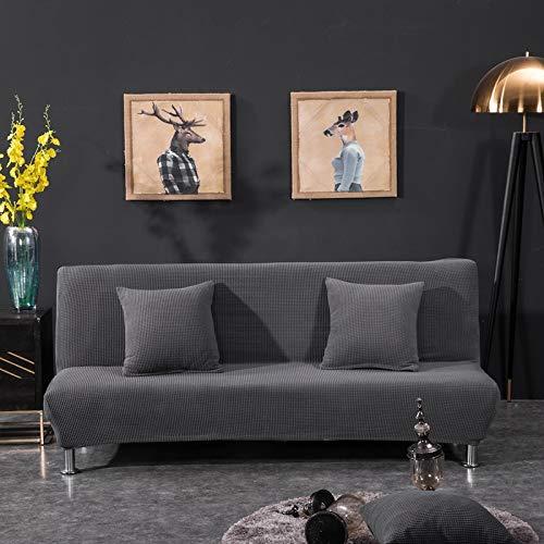 Sofa cama plegable simple de 155-185 cm, todo incluido, en color liso con gris oscuro,Funda elastica para sofa de 1 2 3 plazas, Cubierta Antideslizante en Tejido elastico Extensible, Protector de