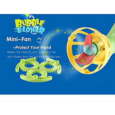Voberry Bubble Machine, Bubble Gun Blower, Portable Electric Bubble Wands Futuristic Shooter Machine Bubble Automatic Maker Toy Outdoor Ultimate Fun for Kids Toddlers (AS Show): Sports & Outdoors