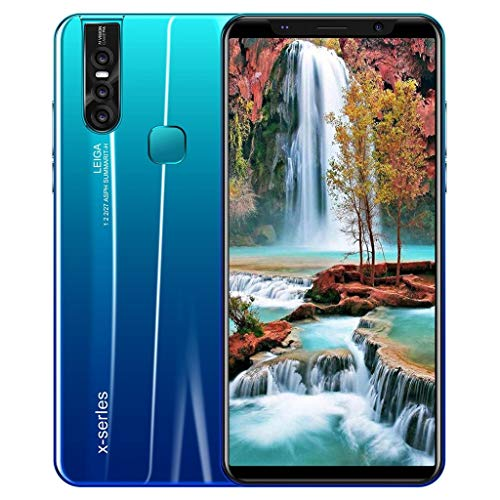 "[2019 Upgraded Version] 6.3"" Android 9.1 Eight Core 3G Smartphone Dual HD Camera 1G RAM+4GB ROM Touch Screen Unlocked Phone (Blue)"