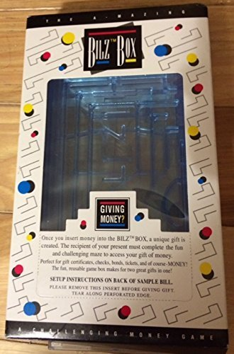 TE Brangs Brain Teasing Maze For Cash or Gift Cards By Bilz Clear Color
