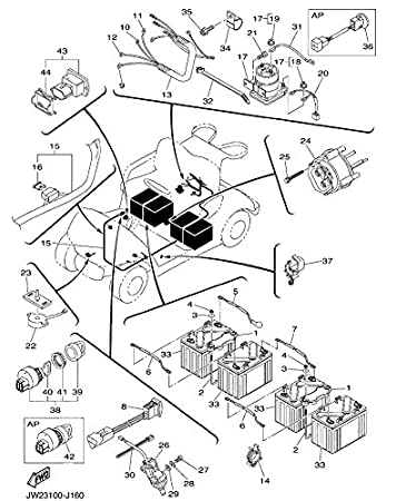 Yamaha G22e Golf Cart Wiring Diagram Astonishing Figure Of Wiring