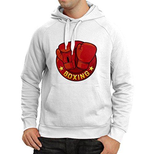 lepni.me Hoodie Boxing - MMA, Kickboxing, Box Gloves (XX-Large White Multi Color) (Single Bbe)