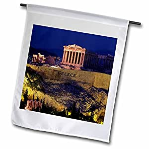 Florene Worlds Exotic Spots - Famous Acropolis In Greece - 12 x 18 inch Garden Flag (fl_80820_1)