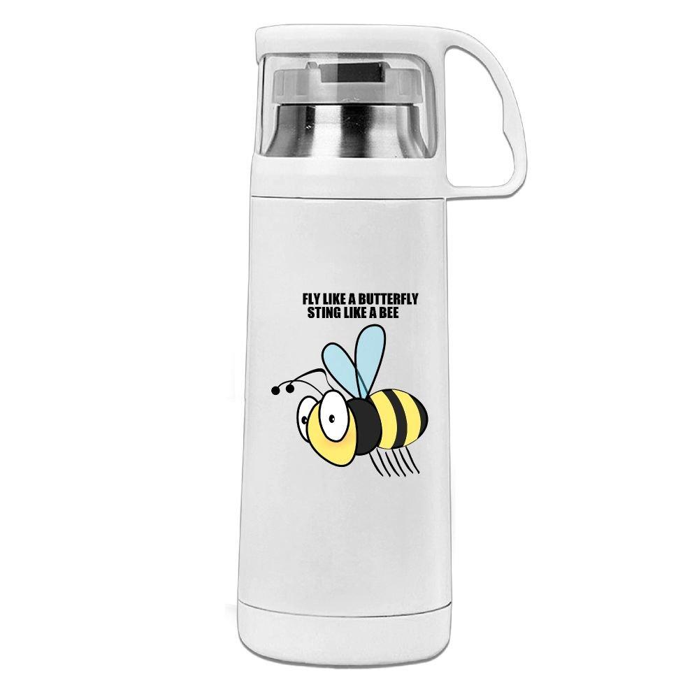 カレンガーデンHoney Beeステンレススチール真空断熱ウォーターボトルリークプルーフHandledマグホワイト、12oz B077WBZZ7X
