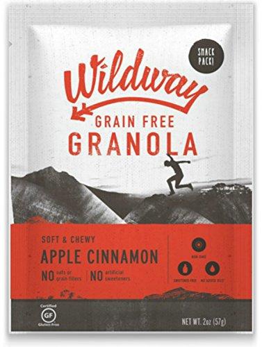 Wildway Grain-free Granola Snack Pack, Apple Cinnamon, 4-pack (Certified gluten-free, Paleo, Vegan, Non-GMO)