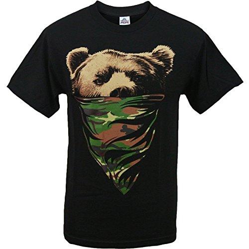 Men's Camouflage Bandana California Bear Shirt 2XL