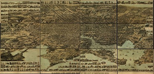 Baltimore Md Map (Map: 1870 E. Sachse, & Co.'s bird's eye view of the city of Baltimore, 1869 Baltimore Baltimore Md Maryland )