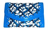 Vera Bradley Penny Wise Wallet Frill Collection in Blue Lagoon