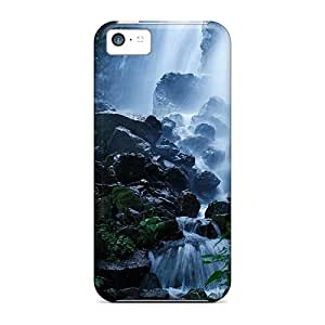 Fashionable Style Case Cover Skin For Iphone 5c- Nature Waterfalls Forest Falls