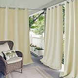 gazebo curtains amazon Elrene Home Fashions Indoor/Outdoor Patio Gazebo Pergola Solid Grommet Top Single Panel Window Curtain Drape, 52 Inch Wide x 108 Inch Long, Ivory (1 Panel)