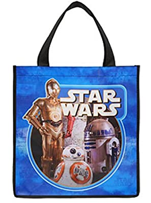Star War BB-8, R2D2, C3PO Blue Large Multiple Use Tote Bag