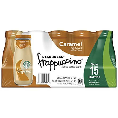 Starbucks Frappuccino, Caramel, 9.5 Ounce Plate glass Bottles, 15 Count