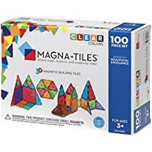 Valtech 4300 Magna-Tiles Clear Colors, Grade: Kindergarten to 3, 100 Piece Set