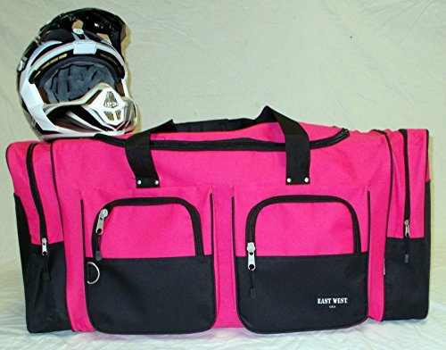 Wingsmarketshop Deluxe Snowmobile XL Motorcycle Atv Gear Bag Motocross Off Road Dirt Bike Premium Pink NEW!