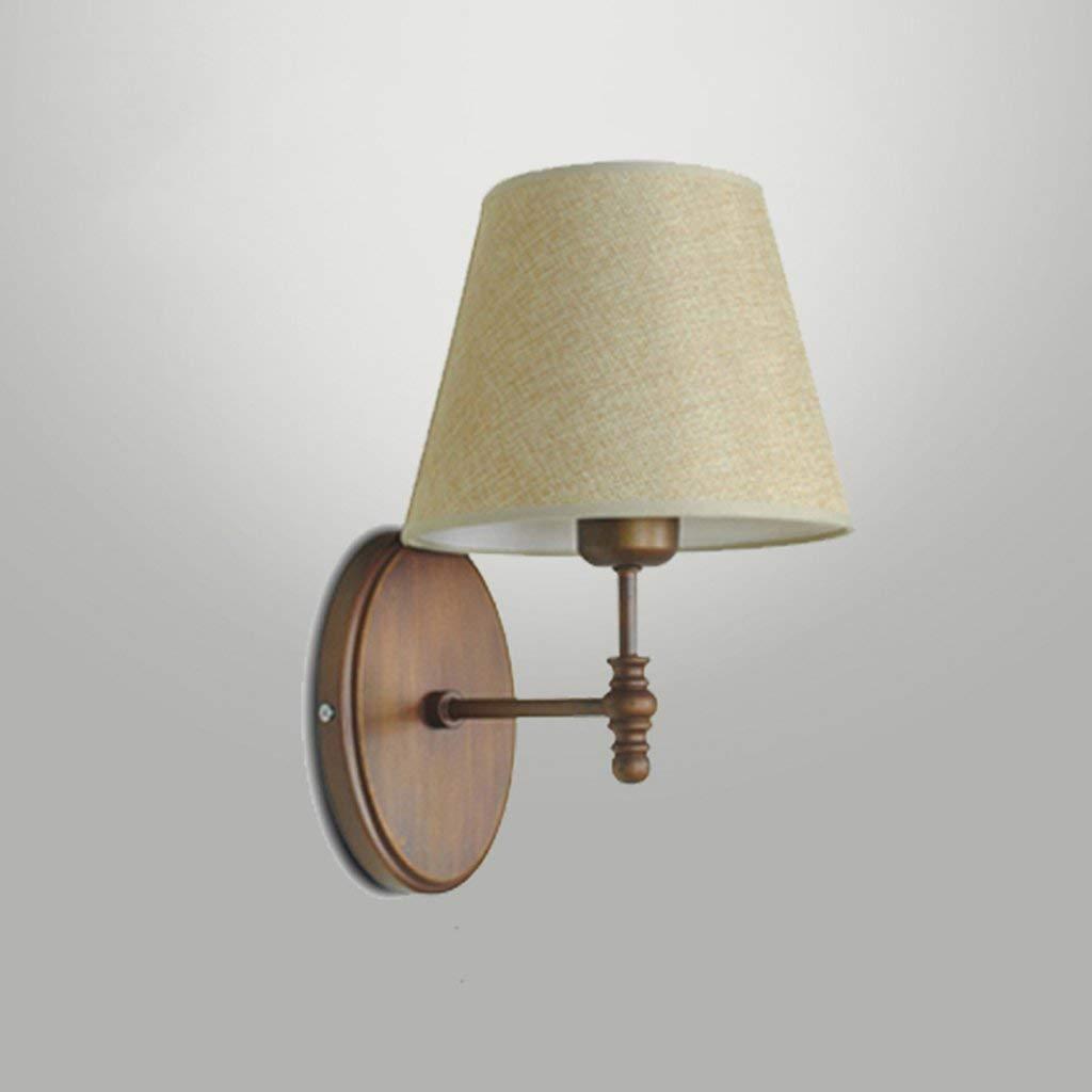 Wand Lampe E27 - Schlafzimmer Kopfteil moderne Holzmaserung Wohnzimmer gang Balkon Stoff spiegel Scheinwerfer LED-