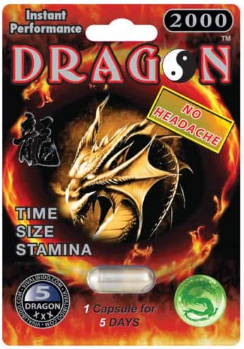DRAGON 2000 Male Sexual Enhancement Pill- Time Size Stamina Enhancer (10)