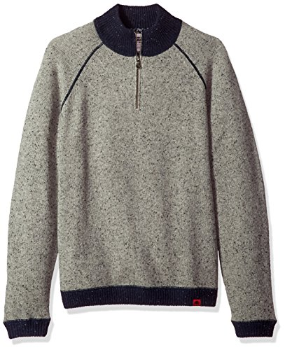 Quarter Zip Bonded Fleece (Mountain Khakis Men's Fleck Qtr Zip Sweater, Lunar, Large)