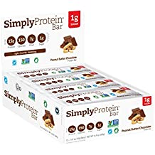 SimplyProtein Bar, Peanut Butter Chocolate, Pack of 12, Gluten Free, Non GMO, Vegan