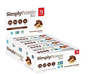 SimplyProtein Bar, Peanut Butter Chocolate, 12 Count