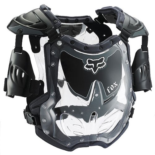 - Fox Racing R3 Women's Roost Deflector MotoX/Off-Road/Dirt Bike Motorcycle Body Armor - Black/Grey / SmallMedium