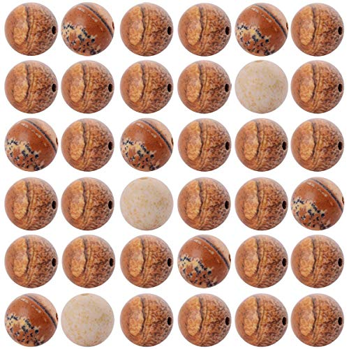 (Natural Stone Beads 100pcs 8mm Round Picture Jasper Stone Real Stone Beading Loose Gemstone Hole Size 1mm DIY Charm Smooth Beads for Bracelet Necklace Earrings Jewelry Making (Picture Jasper)
