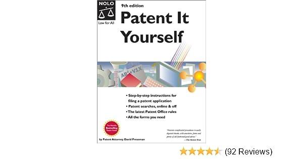 Amazon Patent It Yourself 9780873378017 David Pressman Books