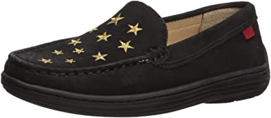 MARC JOSEPH NEW YORK Kids Leather Loafer with Gold Embroidered Star