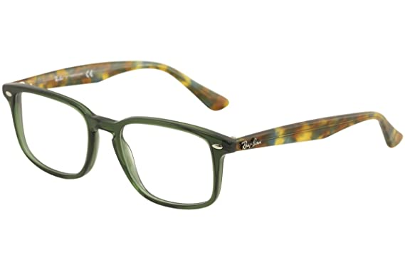 d6b4731429624 Image Unavailable. Image not available for. Color  Ray-Ban Men s RX5353  Eyeglasses Opal Green 52mm