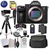 Sony Alpha a7 III Mirrorless Digital Camera - Body Only with Deluxe Striker Bundle: Includes - Memory Cards, Large Tripod, Camera Bag, Extra Battery, Cleaning Kit, and More
