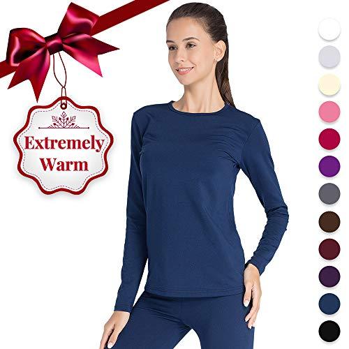 Thermal Underwear for Women Long Johns Set Fleece Lined Ultra Soft Blue X-Large ()