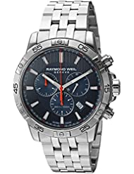 Raymond Weil Mens Tango Quartz and Stainless Steel Diving Watch, Color:Silver-Toned (Model: 8560-ST2-50001)