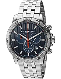 Mens Tango Quartz Silver-Tone and Stainless Steel Diving Watch, Color: