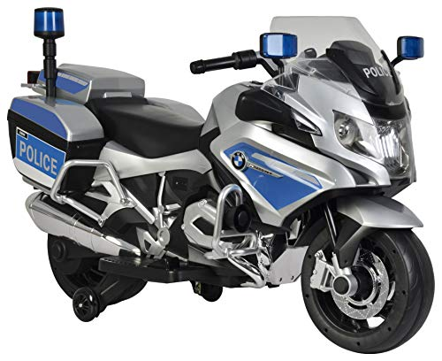 Best Ride On Cars BMW Police Motorcycle, 12V,  Silver