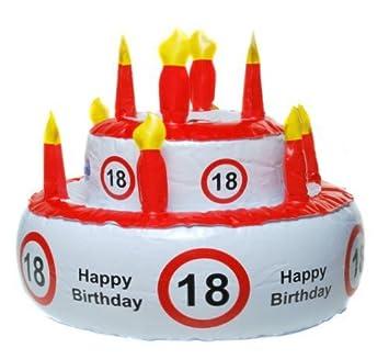 Aufblasbare Geburtstagstorte 18 Jahre Party Deko Geburtstag Amazon