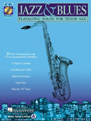 (Jazz & Blues - Tenor Saxophone Play-Along Solos - BK+CD)