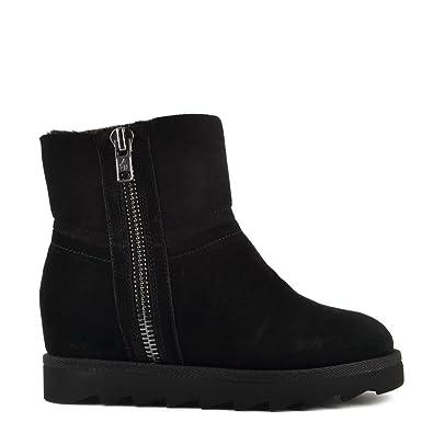 a8b2b9ef5190 Ash Footwear Yang Black Shearling Wedge Ankle Boot 35EU 2UK Black ...
